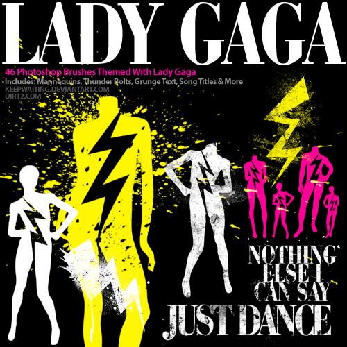 Lady Gaga Photoshop Brushes