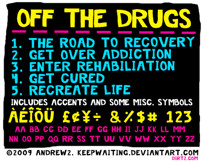 Off the Drugs Font