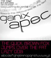 Ganix Apec Free Font by KeepWaiting