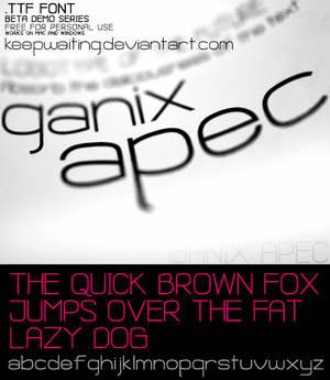 Ganix Apec Free Font