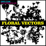 Floral Silhouette Vector Pack