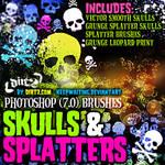 Grunge Skull-Splatter Brushes