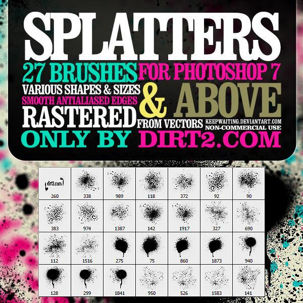 Spraypaint Splatter Brushes by KeepWaiting