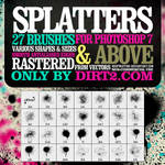 Spraypaint Splatter Brushes