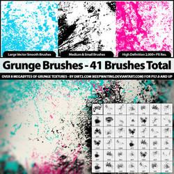 41 Grunge Brushes - PS7