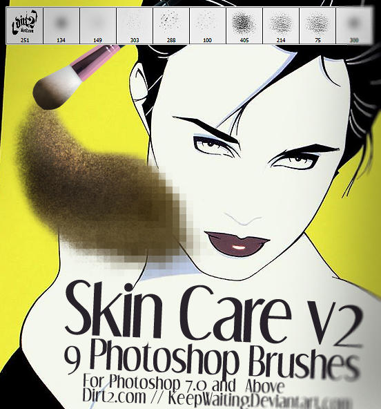 Skin Care v2 Photoshop Brushes by KeepWaiting