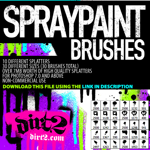 HiRes - PS7 Splatter Brushes