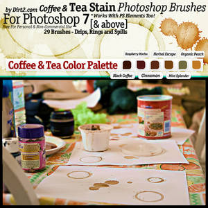 Coffee and Tea Stain Brushes