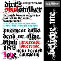 Dirt2 SoulStalker Free Font by KeepWaiting