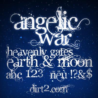 Angelic War - Free Font