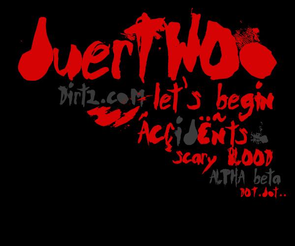 DuerTWOo Font - Horror Bloody