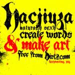 Hacjiuza Dirty - Free Font