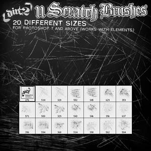 11 Scratch Brushes for PS7