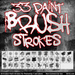 33 Paint Stroke Brushes PS7+