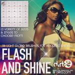 38 Flash, Sparkle and Shine - Photoshop 7+ Brushes
