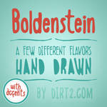 Boldenstein [4 Free Fonts] by Dirt2.com