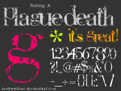 PlagueDeath ttf   FONT by KeepWaiting