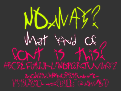 NOxWAY - Font by KeepWaiting