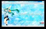 Hatsune Miku: Google Chrome Theme 2