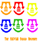 Saiyan Squad Brushes by Supersaiyanbatman
