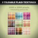 9 Tileable Plaid Textures