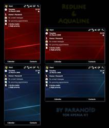 Xperia Themes_Aqua+Redline