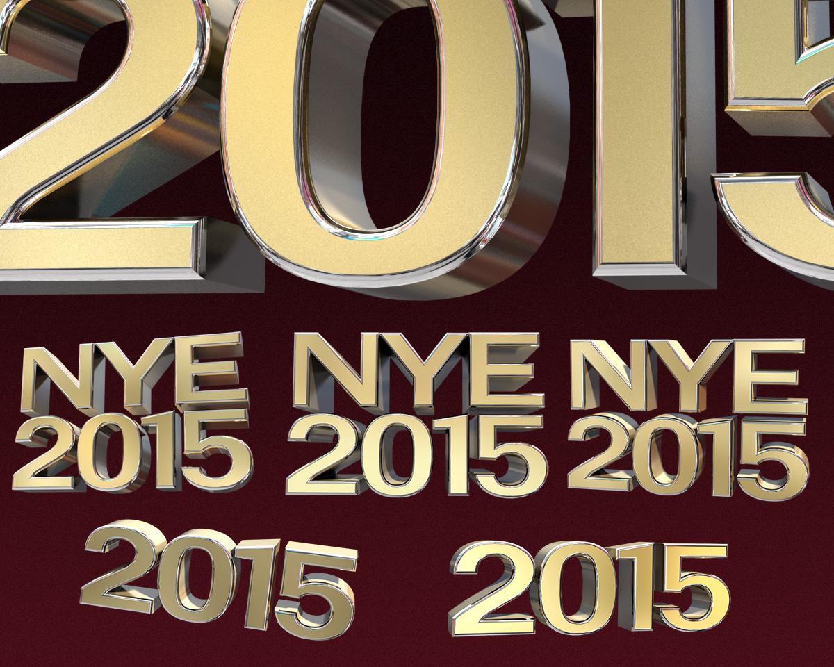 Free NYE 2015 3d Renders by designercow