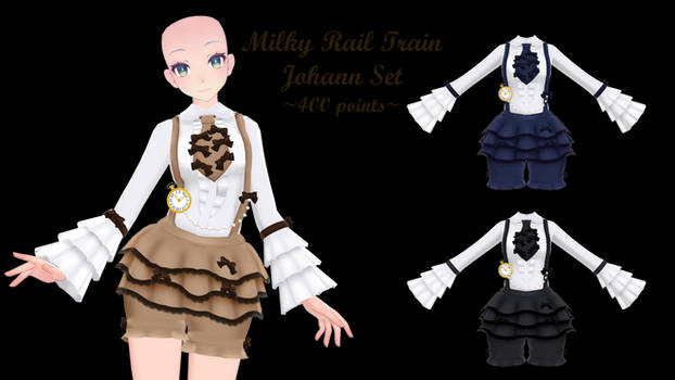 MMD Milky Rail Train Set ~400 points~ P2U