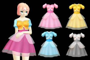 MMD Past Pearl Dress ~[SALE] 300 points P2U~ by Arneth-Myndraavn