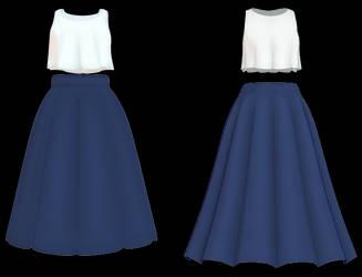 MMD Cute Top and Skirt DL by Arneth-Myndraavn