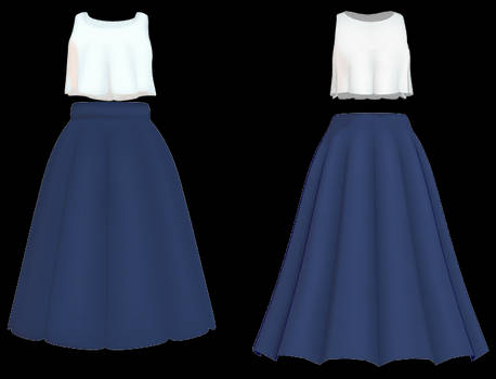 MMD Cute Top and Skirt DL