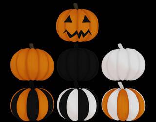 MMD Halloween Pumpkins DL by Arneth-Myndraavn