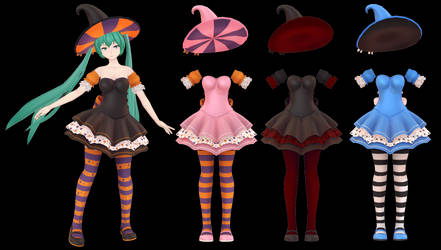 MMD Witchy Costume DL ~600 points P2U~ by Arneth-Myndraavn
