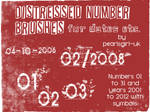Distressed Numbers Brushes