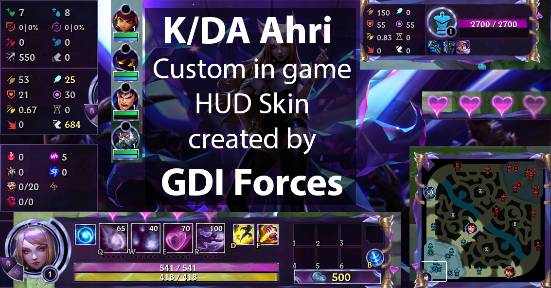 K/DA Ahri in game HUD (Currently not working) by GDIForces