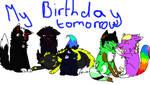 birthday tomorrow