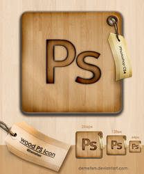 wood Photoshop icon