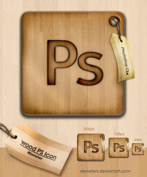 wood Photoshop icon by demeters