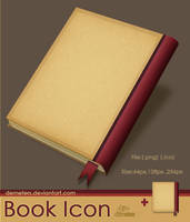 Book Icon by demeters