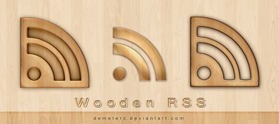 Wooden RSS Icon
