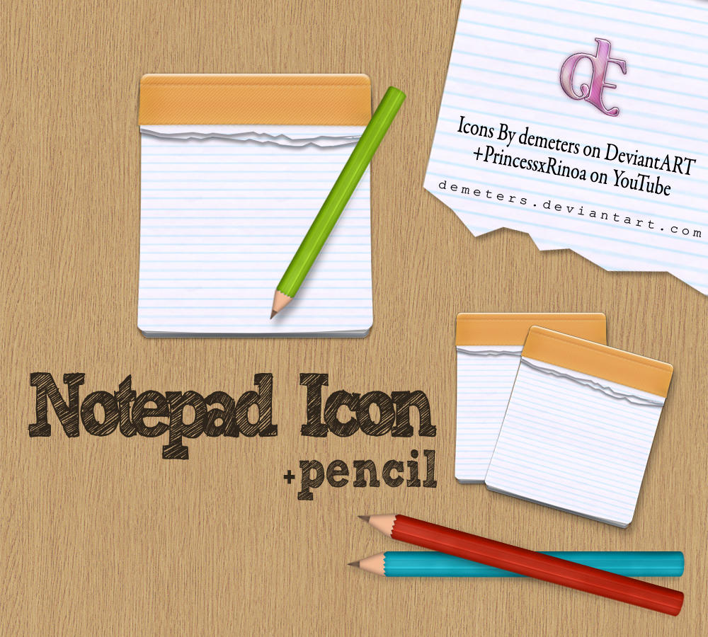 Notpad icon+ pencils by demeters