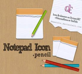 Notpad icon+ pencils