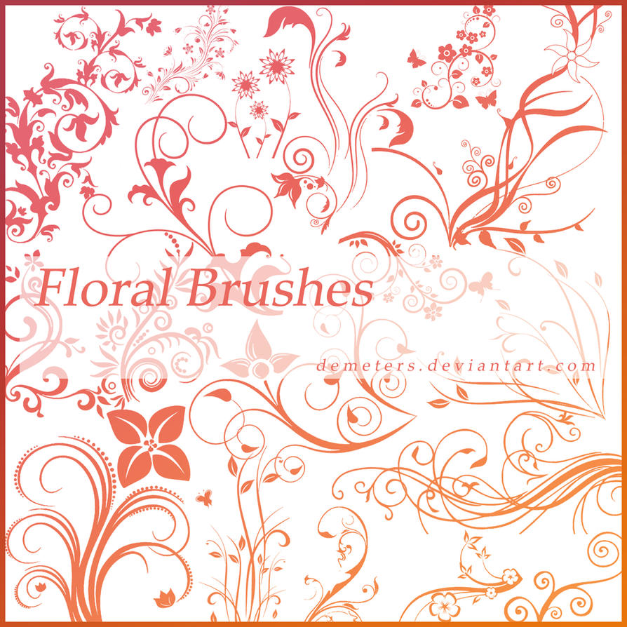 Floral Brushes Pack-1 by demeters