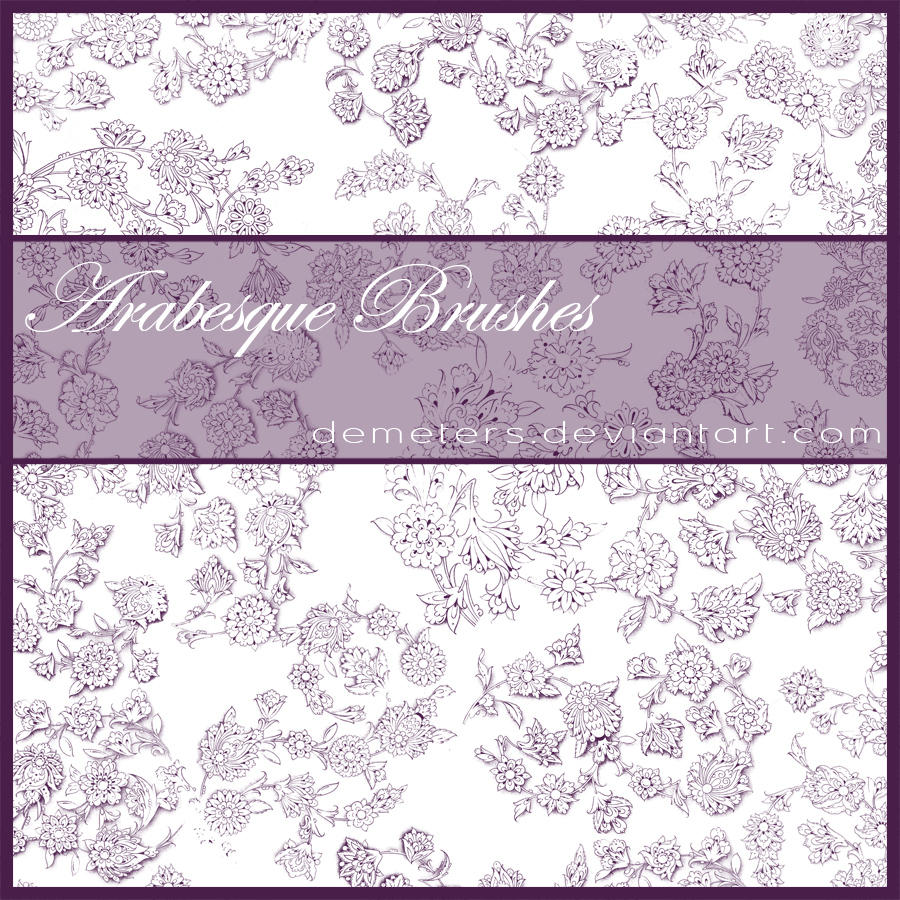 Arabesque Brushes by demeters