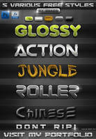 5 FREE Various PS Styles by KoolGfx