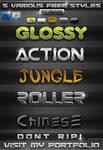 5 FREE Various PS Styles by KoolGfx