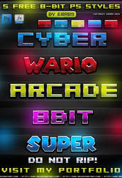 5 FREE 8-Bit Photoshop Styles by Era89 by KoolGfx