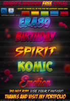 Era89's Birthday FREE Photoshop Styles by KoolGfx
