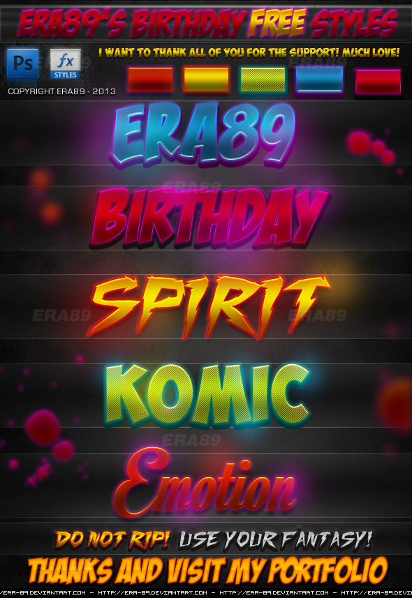 Download stunning birthday text effects free Psd template