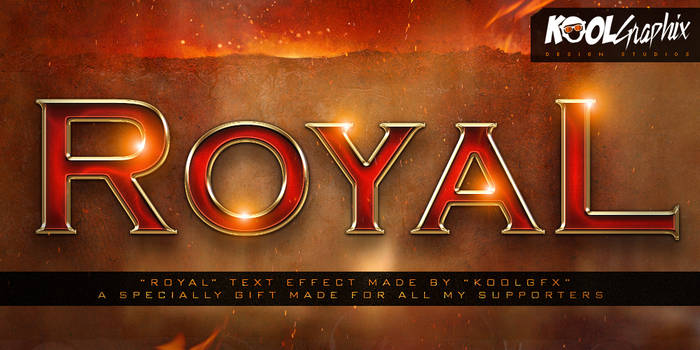 FREE Royal Text Effect By Koolgfx by KoolGfx
